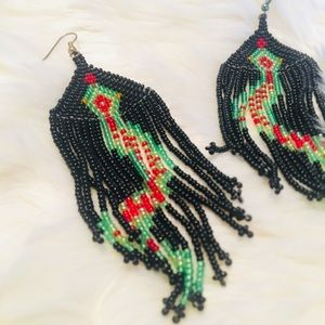 Jewelry - Beaded Snake Earrings